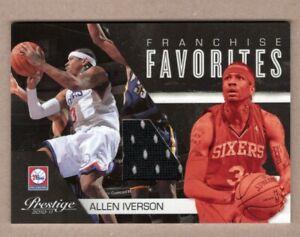 2010-11 Prestige Franchise Favorites Materials Allen Iverson #4 HOF 18/199