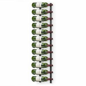 Final Touch 24 Bottle Wall Mounted Wine Rack Black Metal Display Stand Holder