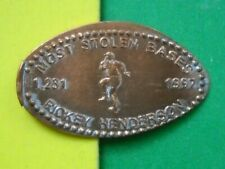 Rickey Henderson elongated penny Usa cent Mlb Baseball coin Most Stolen Bases