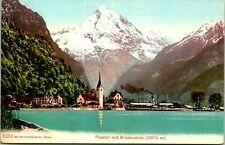 Vintage Postcard Switzerland Fluelen mit Bristenstock Photoglob Co. Zurich