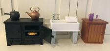 Angelina Ballerina Kitchen Stove, Sink, Strainer Cupboard, Tea Kettle, Pot +More