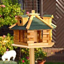 48CM Vogelhaus inkl. Futterspender Vogelfutterhaus Vogelhäuser Holz Vogelvilla B