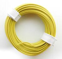 10 m Litze/Kabel GELB z.B. für Märklin Spur H0 Modellbahn oder n,tt etc.