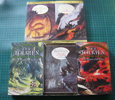 Tolkien x5 The Hobbit The Silmarillion Lord of the Rings 1 2 3 The Two Towers
