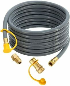 24ft Natural Gas Hose with 3/8 Inch Female Flare by 1/2 Inch Male  Quick Connect