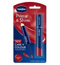 Vaseline Prime & Shine 2 in 1 Lip Balm&Gloss Gift Pack Set Scarlet Red👄💄💋