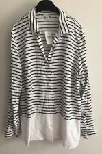J.Jill Women's Size Large Blue Striped Tunic Top New With Tags