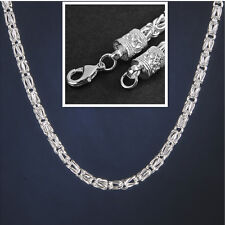 5mm 20 Inch 925 Sterling Silver Plated Chain Link Men Geometry Necklace Gift