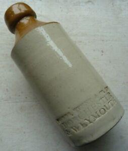 NOBBS STENT DORCHESTER & WEYMOUTH Dorset impressed ginger beer bottle C 1890s