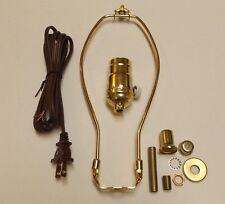 """TABLE LAMP WIRING KIT WITH FULL RANGE DIMMER SOCKET,10"""" HARP,CORD SET 30554P10JB"""