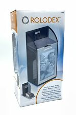 New Rolodex Two Tone Mesh Photo Frame 300 Business Card File Black