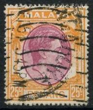 Malaya Penang SG#16, 25c Purple And Orange KGVI Used #A93276