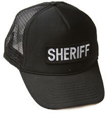 Delux 3D Patch Embroidery Law Enforcement Trucker Hat, SHERIFF