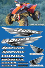 300ex honda Decals Graphics 12pc ATV QUAD Gen 1 FULL COLOR BLACK Pick Any Color