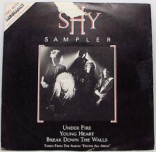 "SHY : KERRANG SAMPLER : UNDER FIRE 7"" Single Vinyl 45rpm Picture Sleeve VG"