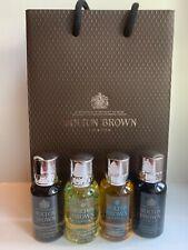 Molton Brown Men's Body Wash / Shower Gel Gift Set 4 x 30ml Bottles Suma Ginseng