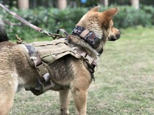 Dog Harness And Leash German Shepherd Vest With Nylon Handle Camouflage Color L