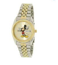 Disney Mickey Mouse Men's  'Moving Hands' Gold & Silver Bracelet Watch MCK339