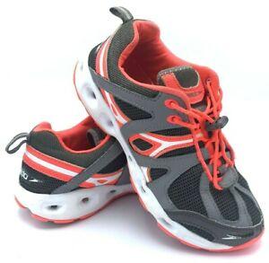 Speedo Hydro Comfort 4.0 Womens Size 7 Water Shoes Gray Pink White 10745 EUC