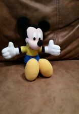 Mickey Mouse plush stuffed animal yellow shirt, shoes/blue pants unique rare EUC