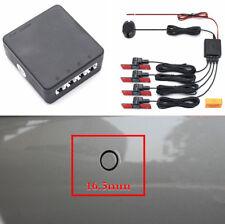 Set 12V Car Reverse Backup Radar Alarm System 4x 16mm Parking Sensors Waterproof