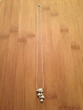 925 Pendant Necklace Thick Chain Gc Designer Solid Sterling Silver Bubble Design