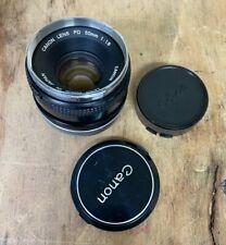 CANON FD 50mm F/1.8 Breech Lock SLR Camera Manual Lens