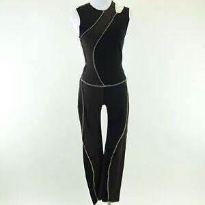 Kim Kardashian West KERNE.MILK Black/Gray Stretch Outfit Shirt & Pants No Size