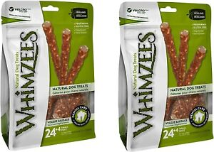 (56 Count) Whimzees Veggie Sausage Dog Dental Treats, Small
