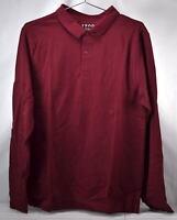 Men's Izod Uniform Long-Sleeve Pique Polo Shirt, Burgundy