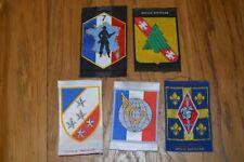 Lot de 5 insigne tissu militaire armée écusson patch badge régiment collection