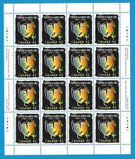 Canada Stamps1999 46 Cent Scott* 1769  Sheet Of 16 Le Theatre Du Rideau Vert