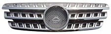 Front Grille Mercedes Benz W163 96-05 Chrome Strip & Moulding & Silver w/Emblem
