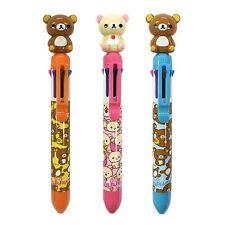 San-x Rilakkuma Mascot 8 Multi-Colored 0.7mm Ballpoint Pen : 3 pcs Set