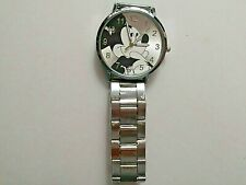 Adult / Teen MICKEY MOUSE  Stainless Steel Watch with Bracelet Clasp Strap.