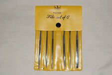 NEEDLE FILE SET OF 6 FILES WATCH AND CLOCK PARTS