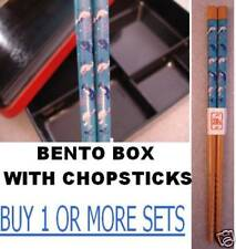 """Bento Box With LID + 6.5"""" small child kids little BLUE WHALE orca  Chopsticks"""