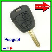 Coque Clé Télécommande Plip Bouton Pour Peugeot Partner Expert + Lame vierge