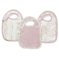 Aden and Anais Tranquility Bamboo snap bibs 3 Pack New