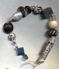Bracciale argento 925 Sterling con pietre perle charms