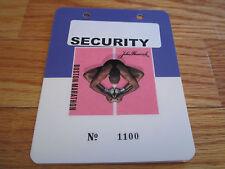 105th Boston Marathon April 2001 Finish Line Laminated Security Badge