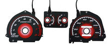 TYPE R 1988-1991 HONDA CIVIC EX SI RED GLOW GAUGE FACE OVERLAY MANUAL EE EF NEW