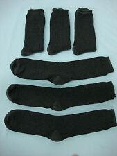 NWOT Men's Burlington Dress Socks Very Nice Charcoal Grey 6 Pair Size 10-13