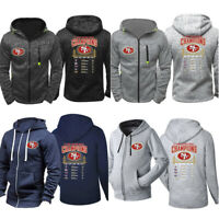 San Francisco 49ers Hoodie Fleece Hooded Sweatshirt Sports Jacket Gift For Fans
