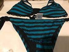 Sundek Daria Bikini 2 Piece Color Blue / Black SIZE 40 Small 4 W122KNLY460