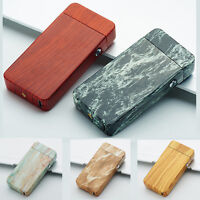 Electric USB Windproof Plasma Dual Arc Lighter Rechargeable Flameless Patterned