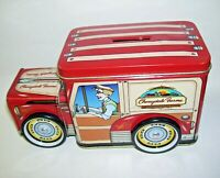 Cherrydale Farms Tin Delivery Van Bank