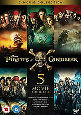 PIRATES OF THE CARIBBEAN 1-5 BOXSET DVD Original UK Release New Sealed R2
