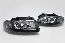 Audi A4 B5 99-01 Black Xenon Look Headlights Headlamps Pair Set Driver Passenger