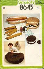 1970's VTG Simplicity Junk Food Pillow Package Pattern 8643 UNCUT